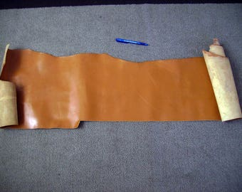 Camel color leather scraps
