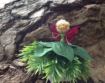pine skirt Fairy Doll, bendy doll