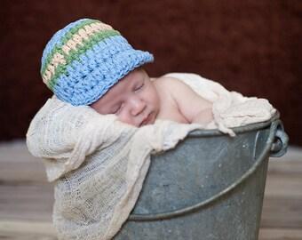 Newborn Baby Boy Hat Newborn Photo Prop Baby Boy Clothes Newborn Baby Hat Newborn Hat Light Blue Olive Green Khaki Baby Boy Cap Baby Cap