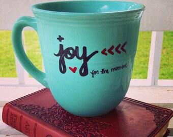 Coffee Mug Coffee Cup 14 oz Stoneware Mug Joy