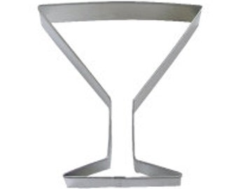 Cookie Cutter Martini Glass 4""