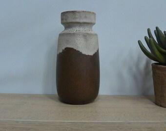 Stoneware vase German beige and Brown german volute sandstone vase volute beige and brown
