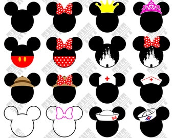 Mickey Head svg - Mickey Head vector - Mickey Head digital clipart for Print, Design or more , files download svg, png, dxf