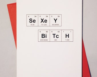 Valentines day periodic table true luv periodic table of the elements sexey bitch card valentines day card geeky urtaz Image collections