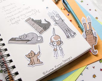 Cute Stickers, Funny Cats, Journaling, Sticker Flakes, Stationery, Scrapbooking, Paper Stickers, Scratching Post