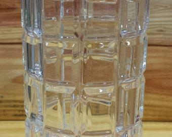 """Crystal Vase 9"""" Bossa Nova.  Box 333"""