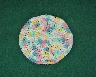 Cotton Dishcloth, Washcloth, Pastel Crochet Dishcloth