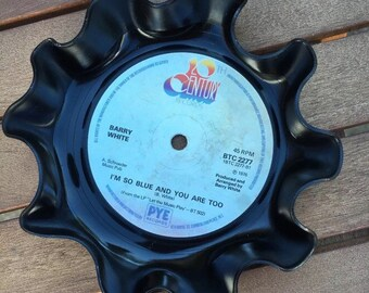 Vintage Vinyl Record Key Holder - Barry White - I'm So Blue And You Are Too