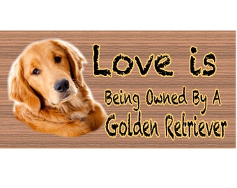 Golden Retreiver Wood Signs - Golden Retreiver  plaque GS414