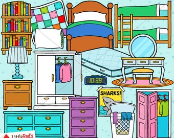 Bedroom Clip Art - personal use/limited commercial use