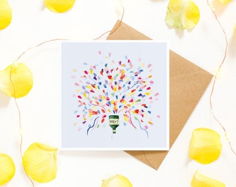 Party Popper Celebration Greetings Card