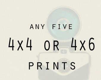 Photography - Any Five 4x4 or 4x6 Lustr prints