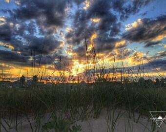 Sand Dune Sunset - Wells Beach, Maine - Photography