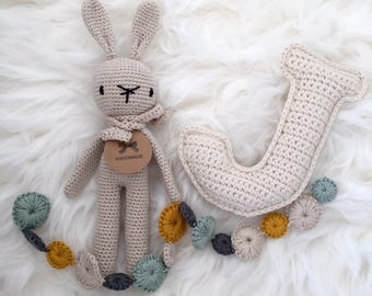 Ready to Ship! Crochet Rabbit Beige (small)