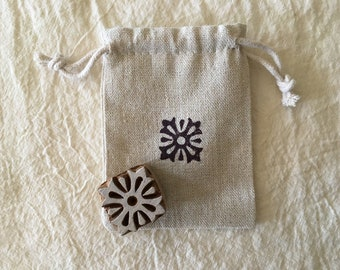 Hand Carved Wooden Textile Printing Block - Made in India - Designed by Yardwork