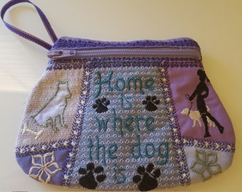 Small Pouch Dogs / Purse Dogs embroidery design. In a hoop machine embroidery design