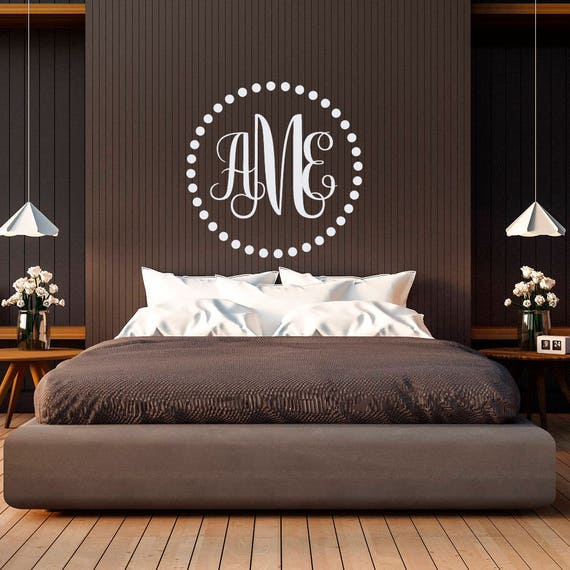 Personalized Monogram Wall Decal Initial By FabWallDecals - Family monogram wall decals