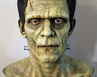 Frankenstein bust Boris Karloff 1:1 scale lifesize resin head prop Miles Teves isnt a mask Dracula Mummy Wolfman Universal Monsters Creature