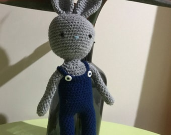 MADE TO ORDER - Warren the Bunny - handmade crochet soft toy