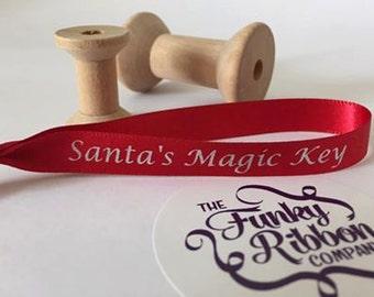 Santa's magic key ribbons
