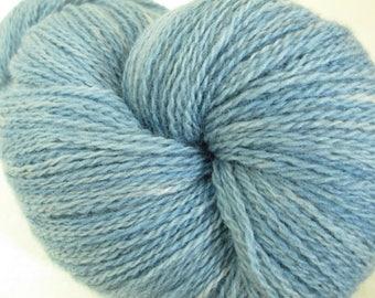 Indigo Willow Wool Yarn - Natural Dye Tonal Yarn - Fingering Weight - Wisconsin Local Color - Homegrown Plant Dye - YAF121705 - 100 grams