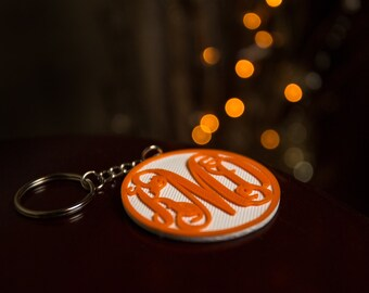 Vine Monogram Keychain