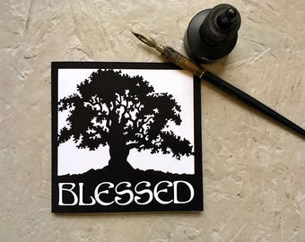 Blessed (ink card)