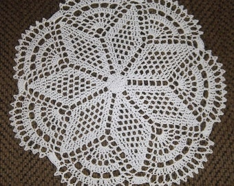 Doily - Crochet Doily made of White Crochet Thread - Nice for a Small Table