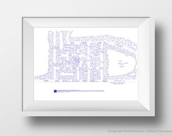 Stars Hollow - Fictional Blueprint Map - Stars Hollow Poster - Connecticut - Gilmore Girls - Lorelai Gilmore, Rory Gilmore - Great Gift!