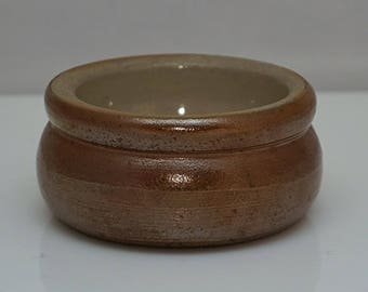 Early C19th BRAMPTON Chesterfield Salt Glazed Stoneware rare SALT Marked with S probably William SHARRATT Factory