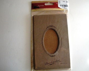 """7 Gypsies Vintage Oval Frame Book Covers.  Vintage Look.  Contains Front and Back Book Covers.  Heavy and sturdy Chipboards.   5.5""""  x  3.5"""""""