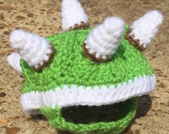 Bowser Box Turtle Sweater Cozy Green or Black Crochet Pet Lover Gift Smash Bros Mario Costume