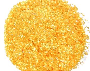 Marigold Glitter, Daisy Yellow Glitter, SOLVENT RESISTANT, GLITTER, 0.040 Hex, Glitter Nail Art, Glitter Nail Polish & Glitter Crafts, Daisy