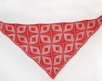 Crochet pattern : Diamond Diva Shawl