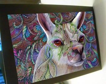 greeting card print of original art- Llama llama llama  Zentangle