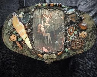 Handmade Vintage Dancer Treasure Box