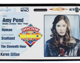 Doctor Who Amy Pond Prop ID Badge