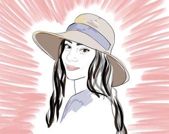 Portrait Custom Illustration, CV Illustration,