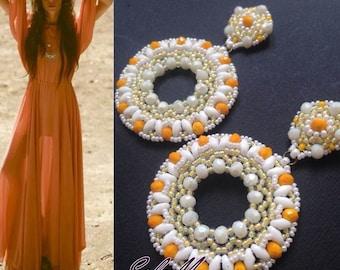 "Earrings ""Camilla"" weaving beads"