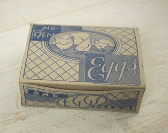 1930s egg carton | vintage 30s kitchen decor