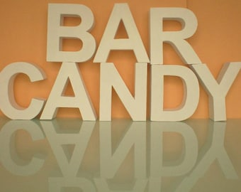 CandyBar-Huge lettering of 3d letters for the wedding party