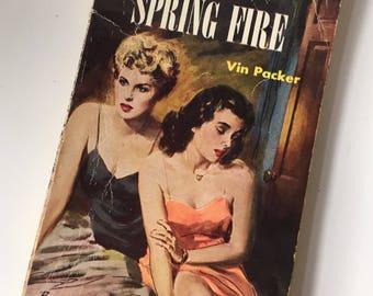 1952 First Edition Spring Fire 1st Lesbian Pulp Romance