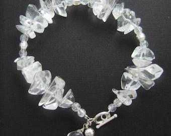 Elsa - frozen clear crystal sterling silver bracelet
