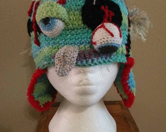 Crochet Zombie Hat - Unique and really gross!