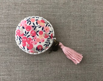 Handmade Macaron Measuring tape made with Liberty of London fabric #35