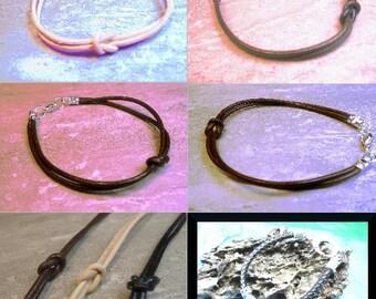Forever Knot bracelets, 1.8 mm spaghetti thin