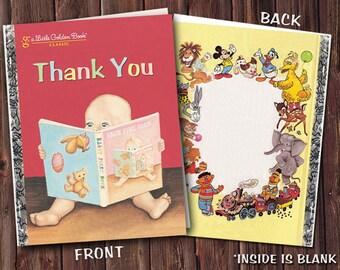 Little Golden Book Thank You Card