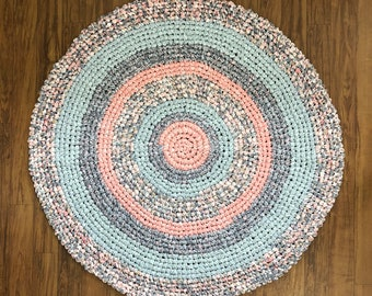 Hand Crocheted Rag Rug