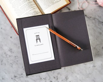 Letterpress Chair Bookplates — Set of 10 From the Library of Bookplates
