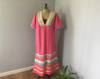 Vintage Kaftan House Dress 1960s